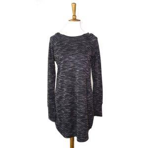 Athleta long sleeve hooded sweater dress, gray, M